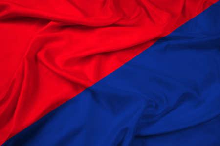 san pedro: Waving Flag of San Pedro de Riobamba, Ecuador