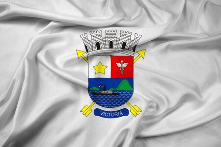 vitoria: Waving Flag of Vitoria, Espirito Santo, Brazil