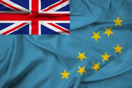 Waving Flag of Tuvalu