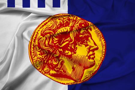 thessaloniki: Waving Flag of Thessaloniki, Greece