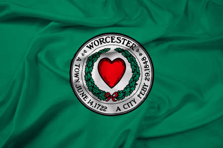 polity: Waving Flag of Worcester, Massachusetts, USA