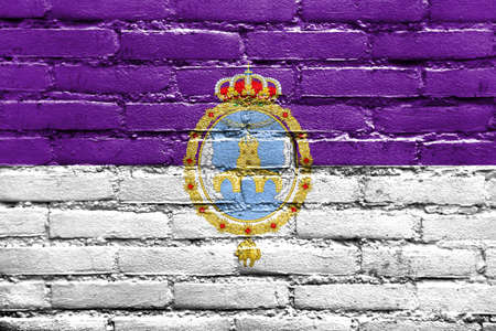 loja: Flag of Loja, Spain, painted on brick wall