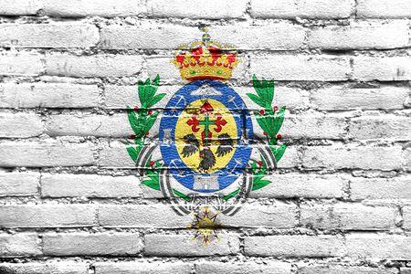 santa cruz de tenerife: Flag of Santa Cruz de Tenerife, Spain, painted on brick wall