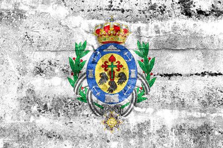 santa cruz de tenerife: Flag of Santa Cruz de Tenerife, Spain, painted on dirty wall