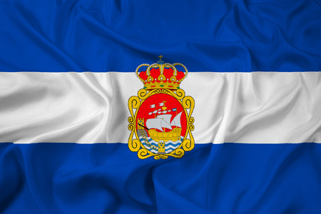 Waving Flag of Aviles, Spain