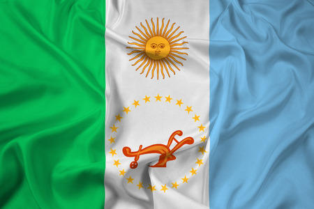 chaco: Waving Flag of Chaco Province, Argentina