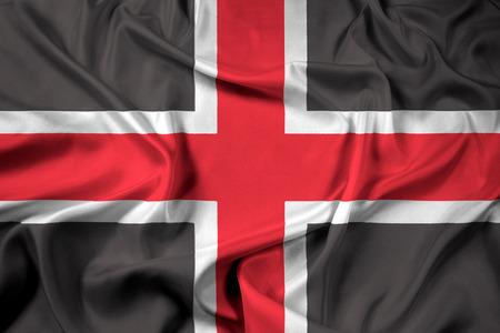 durham: Waving Flag of Durham, England, UK Stock Photo