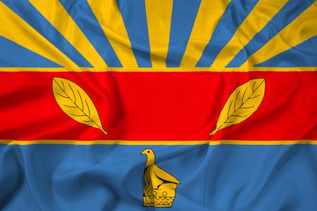zimbabwe: Waving Flag of Harare, Zimbabwe Stock Photo