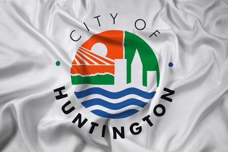 Waving Flag of Huntington, West Virginia, USA