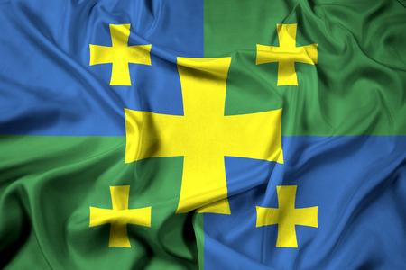 kutaisi: Waving Flag of Kutaisi, Georgia