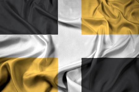 levis: Waving Flag of Levis, Quebec, Canada
