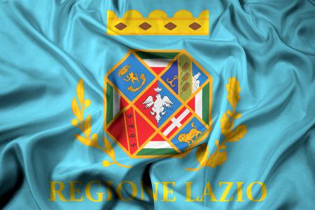 lazio: Waving Flag of Lazio, Italy