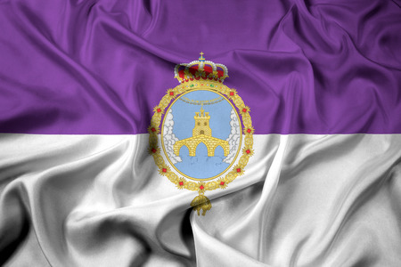 Waving Flag of Loja, Spain