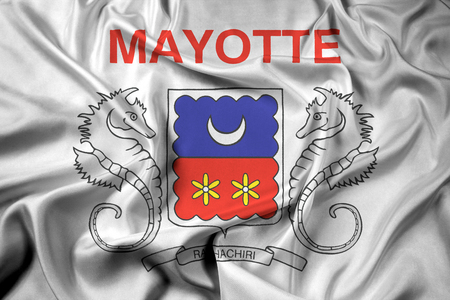 mayotte: Waving Flag of Mayotte, France Stock Photo
