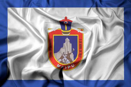 bandera chilena: Ondeando la bandera de Maipú, Chile