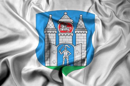 belarus: Waving Flag of Mogilev, Belarus