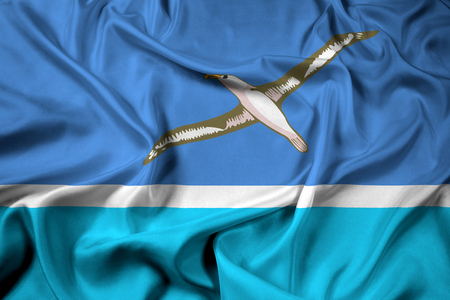 unofficial: Waving Flag of Midway Atoll (unofficial) Stock Photo