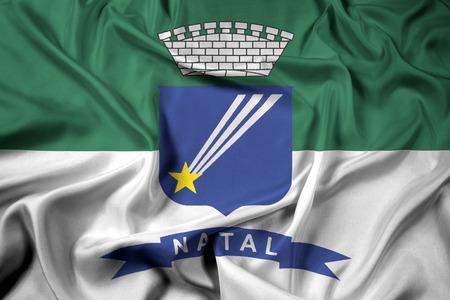 natal: Waving Flag of Natal, Rio Grande do Norte, Brazil