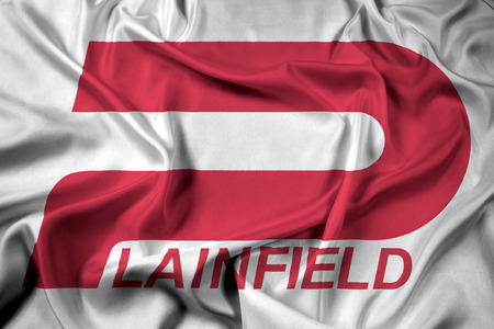 indiana: Waving Flag of Plainfield, Indiana, USA