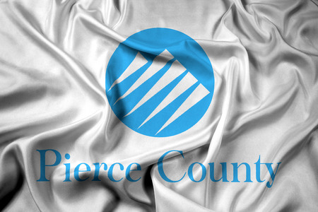 pierce: Waving Flag of Pierce County, Washington, USA