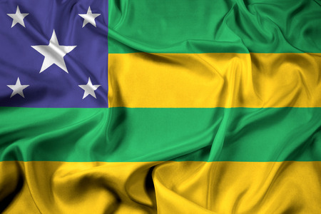 polity: Waving Flag of Sergipe State, Brazil