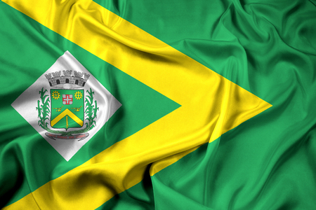 Waving Flag of Santa Barbara dOeste, Sao Paulo, Brazil