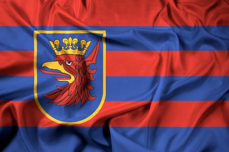 Waving Flag of Szczecin, Poland