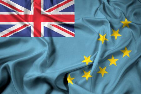tuvalu: Waving Flag of Tuvalu