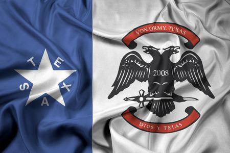 Waving Flag of Von Ormy, Texas, USA