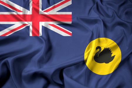 western state: Waving Flag of Western Australia State, Australia Stock Photo