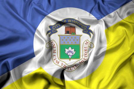 Waving Flag of Winnipeg, Manitoba, Canada