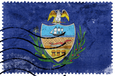 allegheny: Flag of Allegheny County, Pennsylvania, USA, old postage stamp Stock Photo