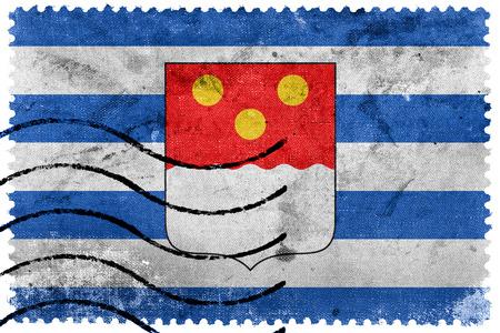 Flag of Batumi, Georgia, old postage stamp Stock Photo