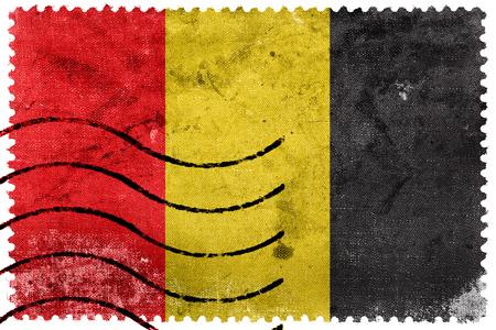postage stamp: Bandera de Besançon, Francia, antiguo sello de correos