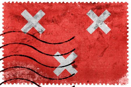 breda: Flag of Breda, Netherlands, old postage stamp