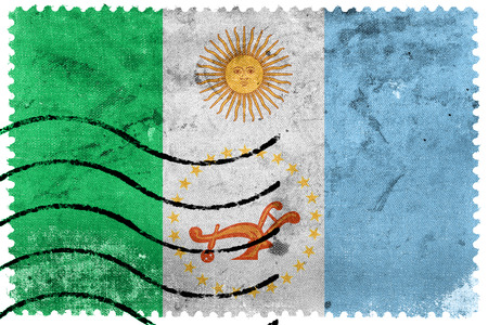 chaco: Flag of Chaco Province, Argentina, old postage stamp Stock Photo