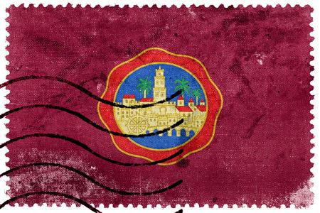 sello postal: Flag of Cordoba, Spain, old postage stamp