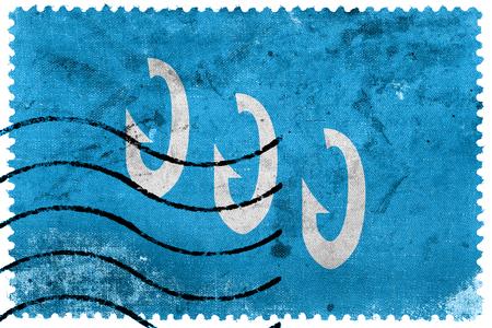 postage stamp: Bandera de Froya, Noruega, antiguo sello de correos