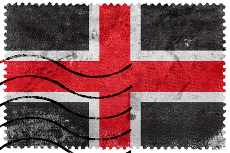 durham: Flag of Durham, England, UK, old postage stamp