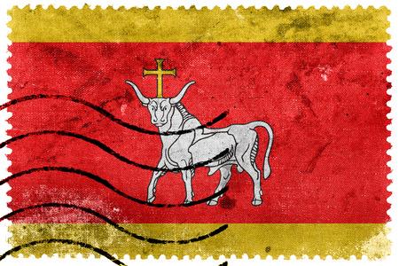 kaunas: Flag of Kaunas, Lithuania, old postage stamp