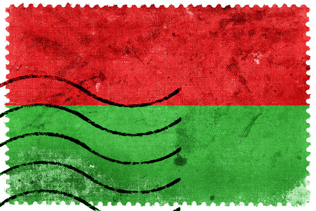 la paz: Flag of La Paz, Bolivia, old postage stamp