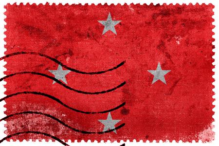 sello postal: Flag of Londrina, Brazil, old postage stamp Foto de archivo