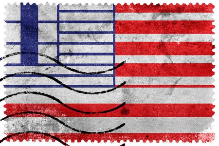 canada stamp: Flag of Lethbridge, Canada, old postage stamp