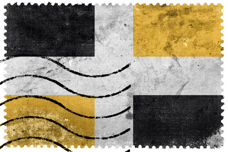 levis: Flag of Levis, Quebec, Canada, old postage stamp Stock Photo