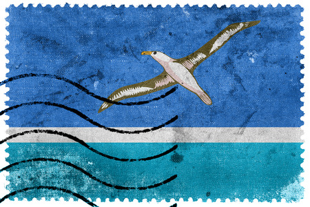 Flag of Midway Atoll (unofficial), old postage stamp Stock Photo