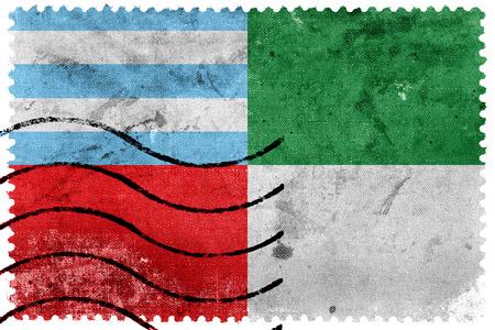 postage stamp: Bandera de Portoviejo, Ecuador, antiguo sello de correos
