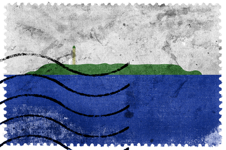 unofficial: Flag of Navassa Island (unofficial, disputed), old postage stamp