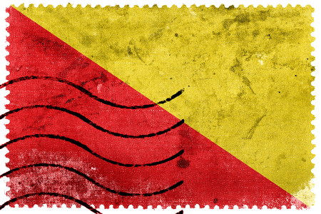 postage stamp: Flag of Palermo, Italy, old postage stamp
