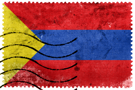 Flag of Pasto, Colombia, old postage stamp