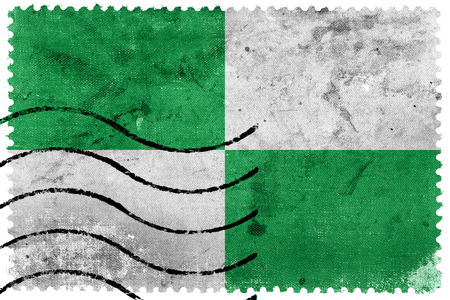 sello postal: Flag of Ocana, Colombia, old postage stamp